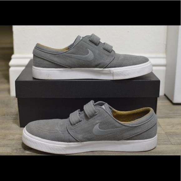 Nike Sb Stefan Janoski Grey Velcro